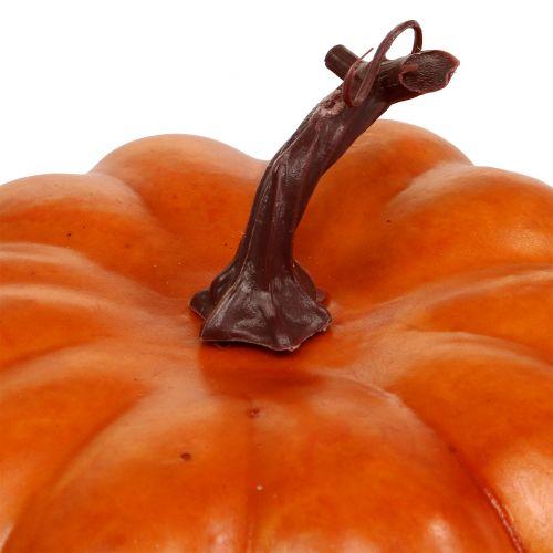 Pumpkin artificial orange 18cm