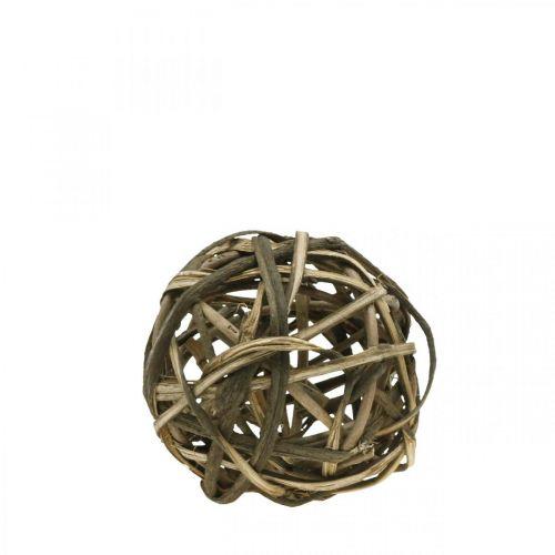 Deco ball natural vinewood Ø15cm
