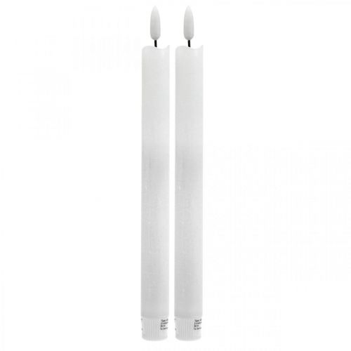 LED candle wax table candle warm white For battery Ø2cm 24cm 2pcs