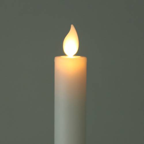 LED real wax stick candle white, warm white timer battery operated Ø2.2 H30cm 2pcs