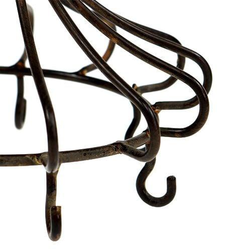 Metal crown for hanging brown