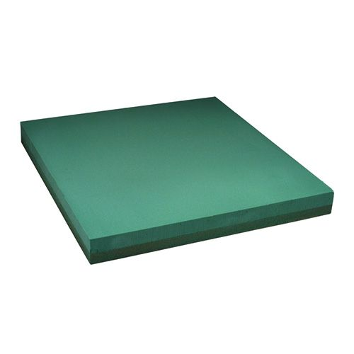 Floral foam plate design sheet snap-in size green 61x61cm 1p