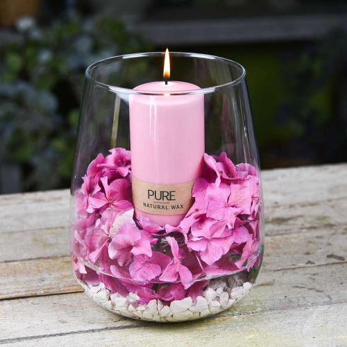 PURE pillar candle 130/70 Pink decorative candle sustainable natural wax