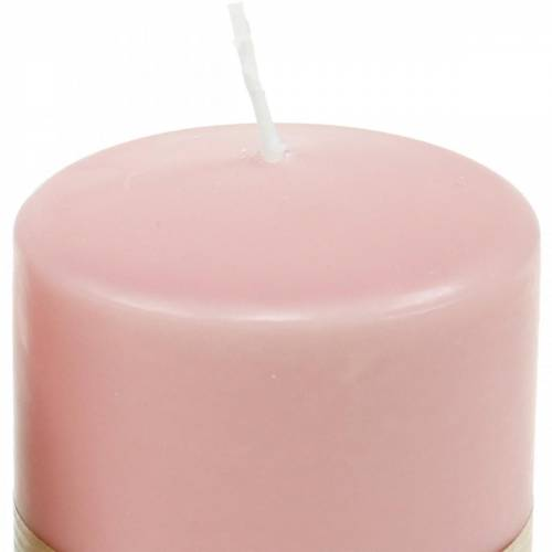 PURE pillar candle 90/70 pink natural wax candle sustainable candle decoration