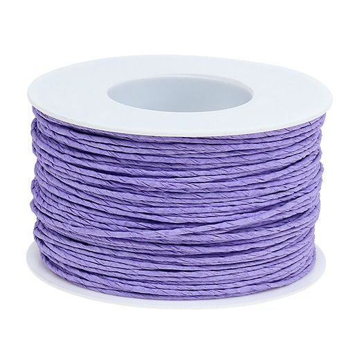 Paper cord wire wrapped in Ø2mm 100m lavender
