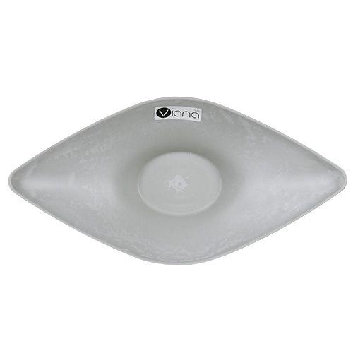 Planter bowl 34cm x 17.5cm H10cm light gray, 1p