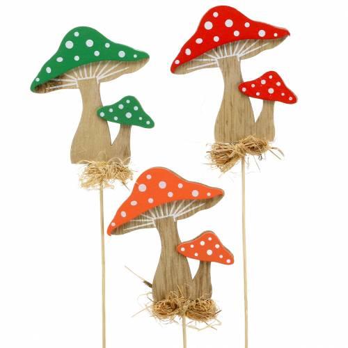 Decorative plug autumn mushroom assorted H28cm 12pcs