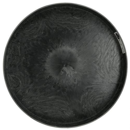 Plastic plate set of 2 gray Ø22cm - 27cm