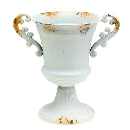 Cup antique white Ø14cm H21cm