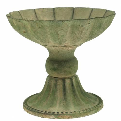 Cup bowl antique green Ø13cm H11.5cm