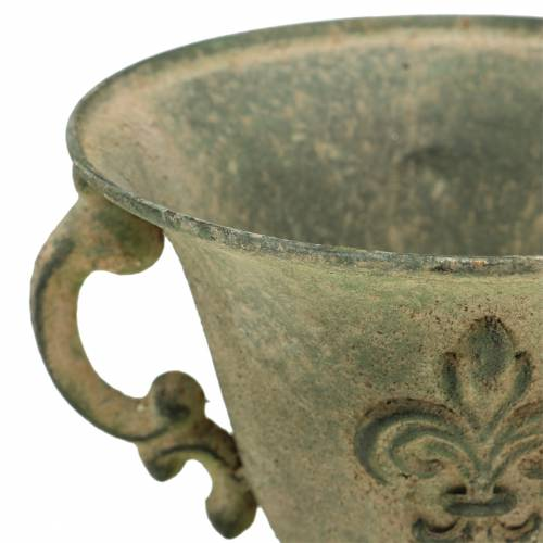 Cup bowl vintage green Ø15cm H14cm