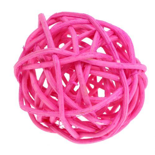 Rattan balls pink assorted Ø4cm 24pcs