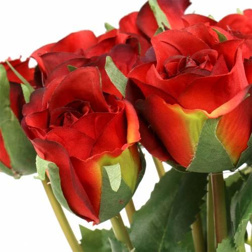 Rose red 42cm 12pcs