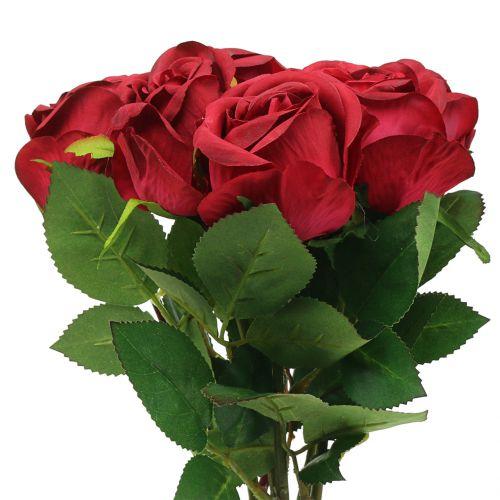 Rose red 44cm 6pcs