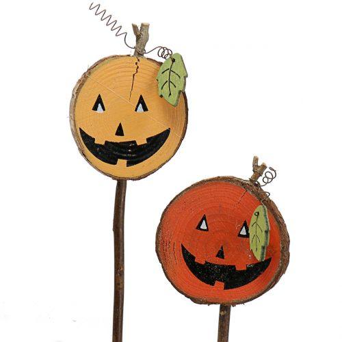 Plug pumpkin nature, orange 8cm 12pcs