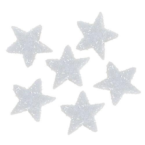 Star glitter 1,5cm for sprinkling white 144pcs