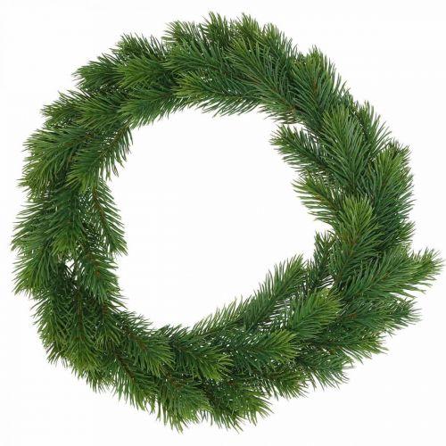 Decorative fir wreath artificial winter wreath green Ø35cm