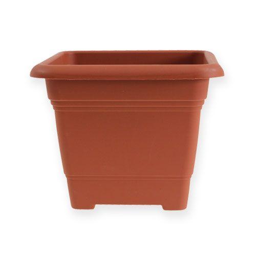 "Flower pot ""Nora"" 14cm x 14cm H11cm terracotta, 1p"