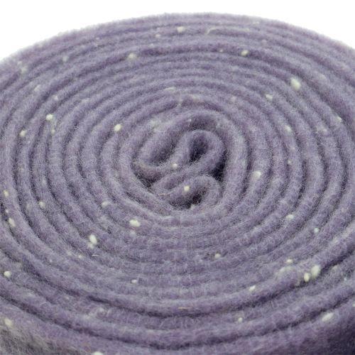 Pot hinge felt band purple with dots 15cm x 5m