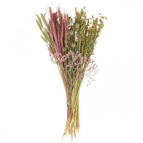 Dried flowers DIY set for bouquet pink dry flowers 60cm