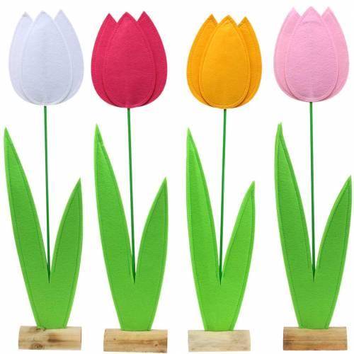 Felt flower tulip Different colors H88cm
