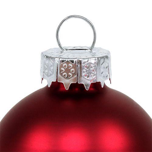 Christmas ball Ø4cm red gloss / matt 24pcs