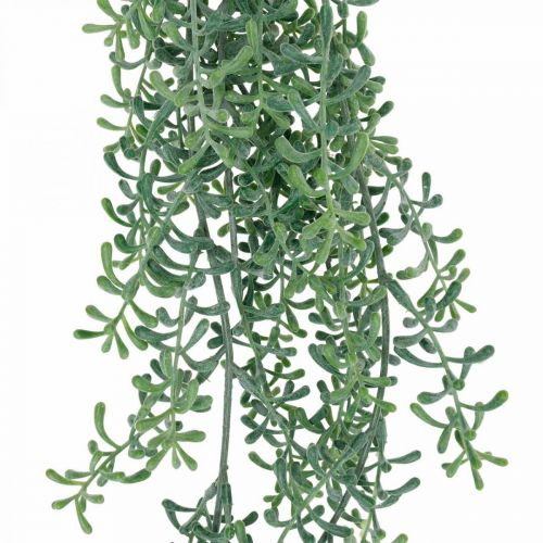 Green plant hanging artificially hanging plant with buds green, white 100cm