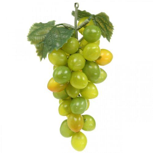 Deco grape green autumn decoration artificial fruits 15cm