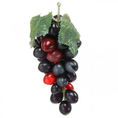 Decorative grape black Decorative fruit Artificial grapes 15cm