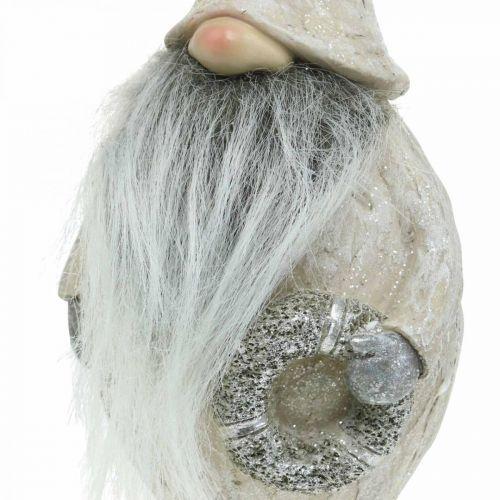 Decorative pixies with beard and wreath Christmas pixies 14x × 12 × 36cm