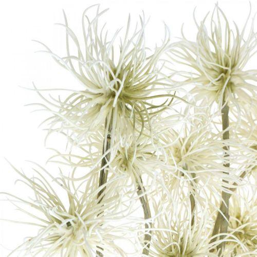 Xanthium artificial flower cream autumn decoration 6 flowers 80cm 3pcs