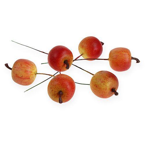 Artificial apple 3cm on wire 24pcs