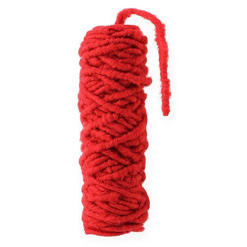 Felt cord fleece Mirabell 25m red