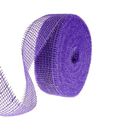 Jute ribbon purple 5cm 40m