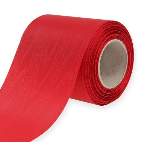 Wreath ribbon red 100mm 25m