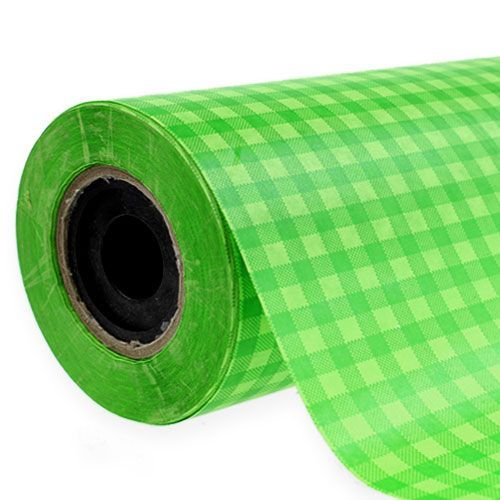 Cuff paper 37.5cm 100m may green check
