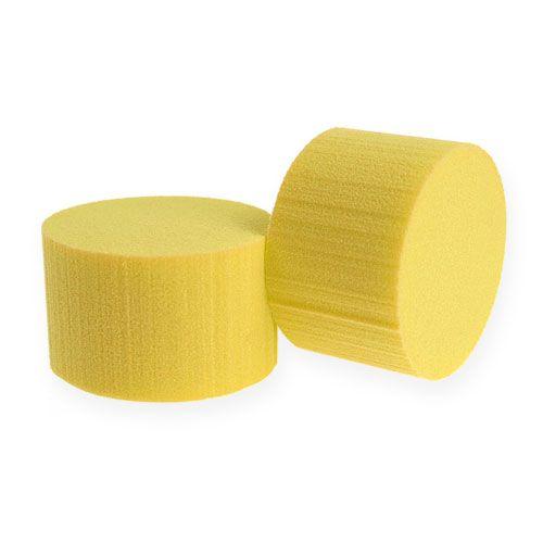 Plug dimensions cylinder Ø8cm yellow 6pcs