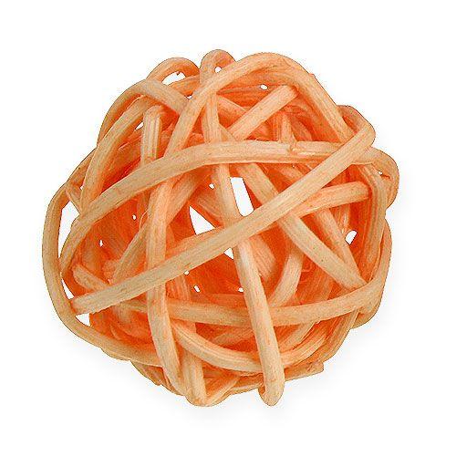 Rattan ball orange, apricot, bleached 72pcs