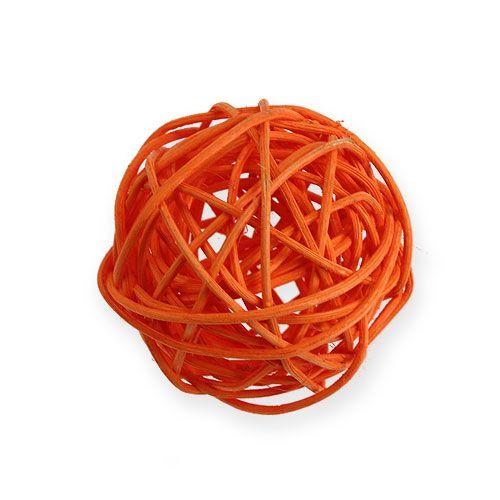 Rattan balls Ø4.5cm orange assorted 30pcs