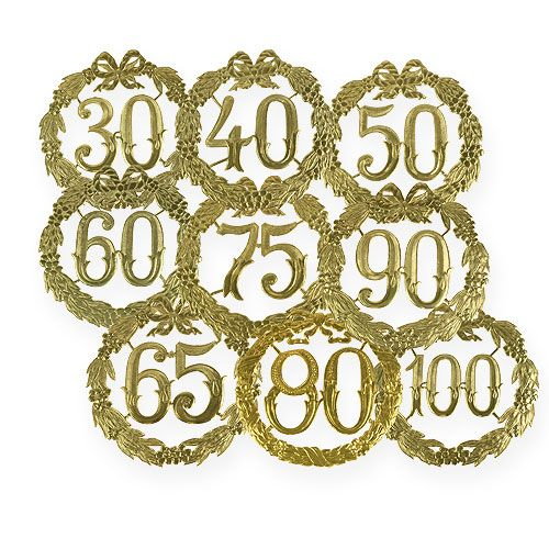Anniversary numbers 24cm gold